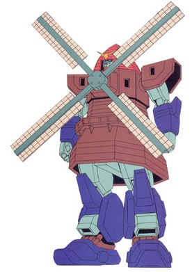 Gundam Holandês de G Gundam. É nóis que gira Gundam!